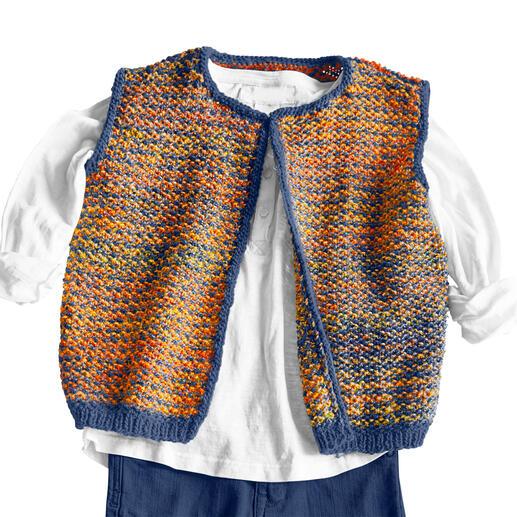 Anleitung 260/0, Kinderweste aus Monello-175 Uni und Monello-175 Color von Junghans-Wolle
