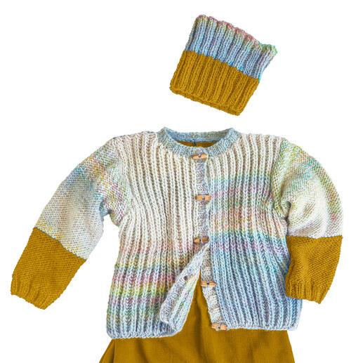 Anleitung 440/0, Jacke und Loop aus Monello-90 Color und Monello-90 Uni von Junghans-Wolle