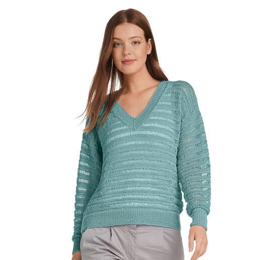 Anleitung 020/1, Pullover aus Seidana® von Junghans-Wolle