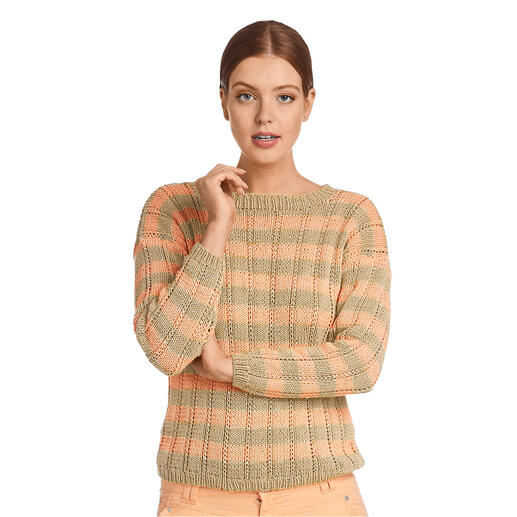 Anleitung 055/1, Pullover aus Recycle & Cotone von Junghans-Wolle