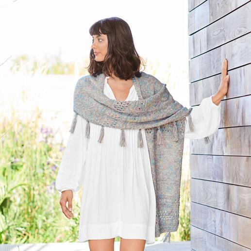 Anleitung 084/1, Schal aus Creative Lazy Hazy Summer Cotton DK von Rico Design