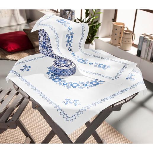 Baumwoll-Tischwäsche - Klassisch-Blau