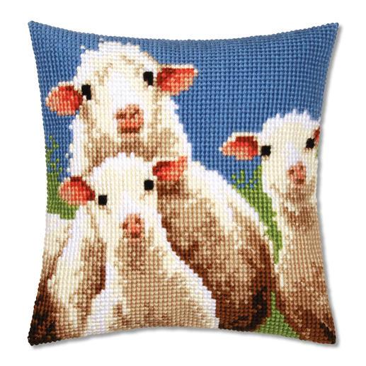 Kreuzstichkissen - Schafe