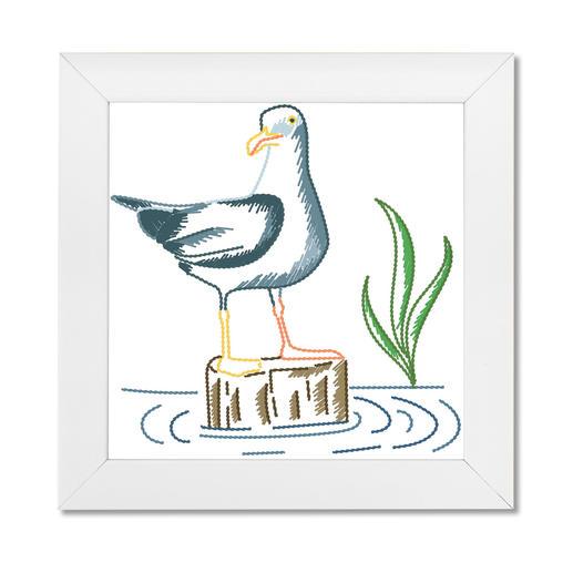 Stickbild - Möwe