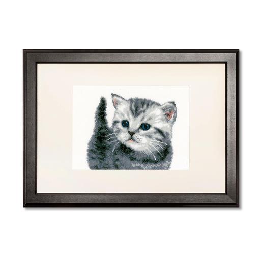 Kreuzstichbild - Kätzchen