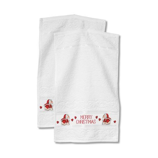2 Handtücher im Set - Merry Christmas