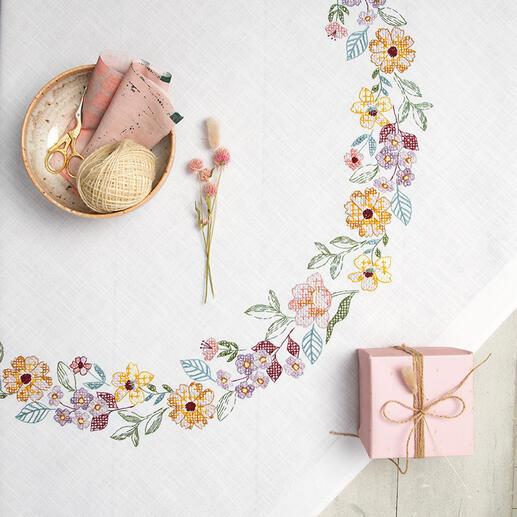 Tischdecke - Sommerblütenkranz
