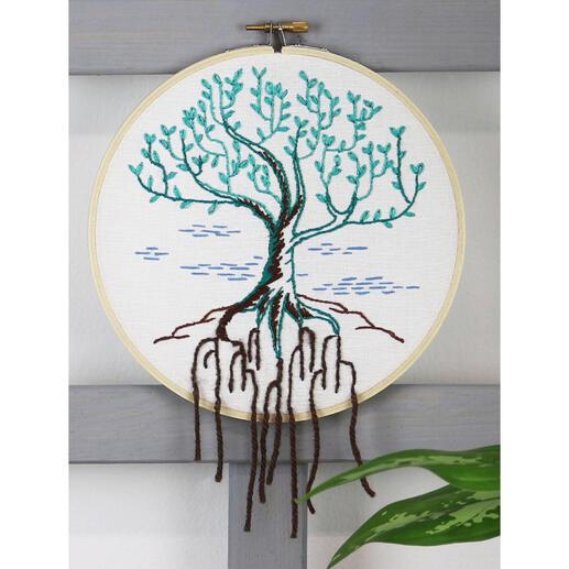 Stickbild - Baum