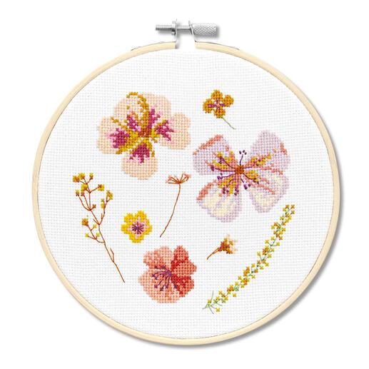 Kreuzstichbild - Trockenblüten