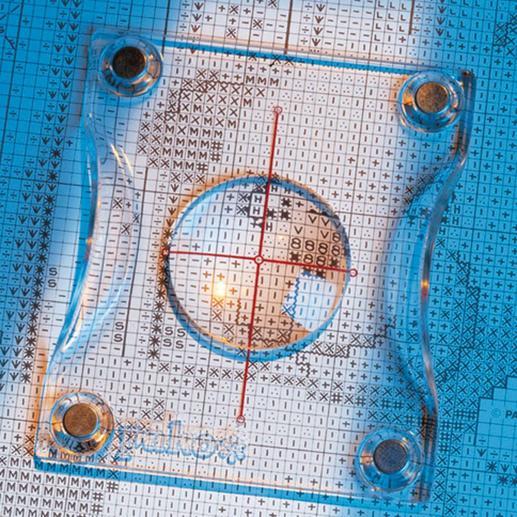 Reihenzähler mit Vergrößerungslinse