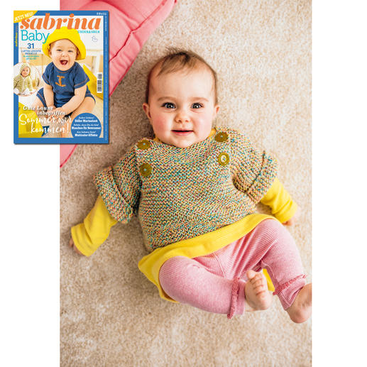 Kurzarm-Pullover aus Sabrina Baby SB 055