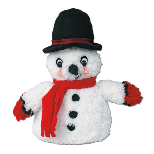Flauschiger Schneemann