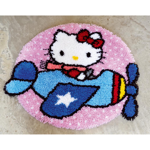 Formteppich - Hello Kitty als Pilotin