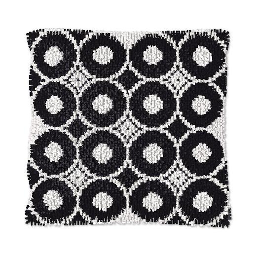 Knüpfkissen - Black & White No. 7