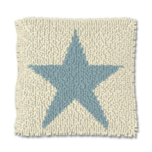 Knüpfkissen - Blue Star