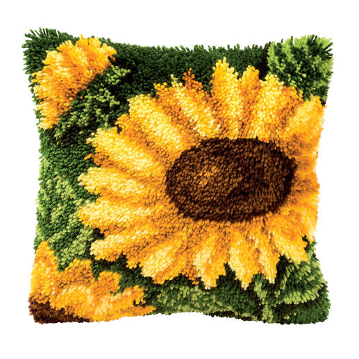 Knüpfkissen - Sonnenblume
