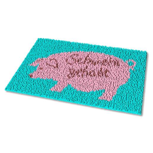 Fußmatte - Schwein gehabt