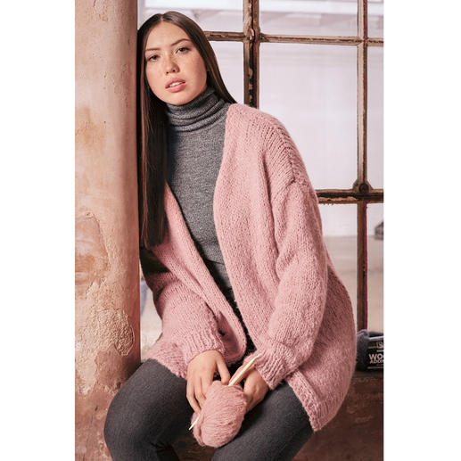 Anleitung 017 Mallow Mood, Jacke aus Water von WOOLADDICTS by Lang Yarns