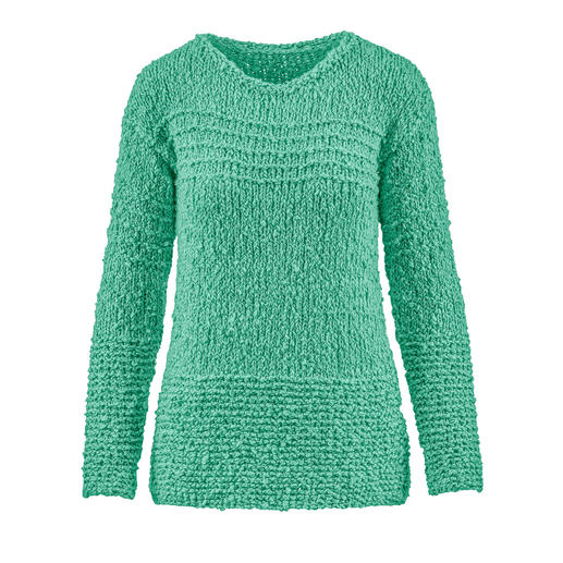Anleitung 012 Mint Madness, Pullover aus Liberty von WOOLADDICTS by Lang Yarns