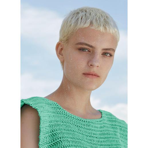 Anleitung 022 Spotless Secret, Gehäkeltes Shirt aus Sunshine von WOOLADDICTS by Lang Yarns
