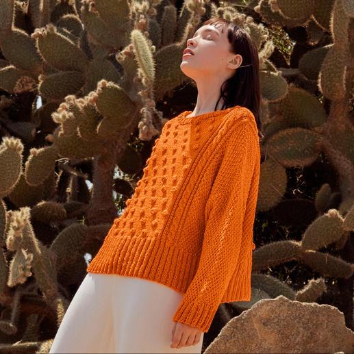 Anleitung 030 Sweet Summer, Pullover aus Sunshine von WOOLADDICTS by Lang Yarns