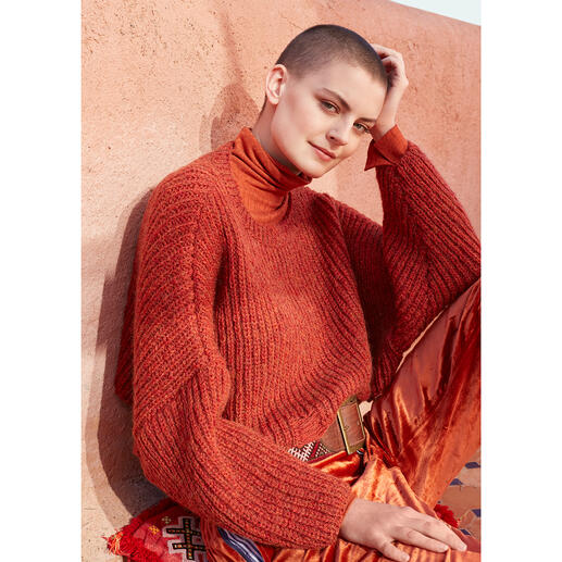 Anleitung 018 Be You (Tiful), Kurzpullover aus Respect von WOOLADDICTS by Lang Yarns