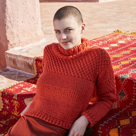 Anleitung 023 Brilliant Beam, Pullover aus Fire von WOOLADDICTS by Lang Yarns