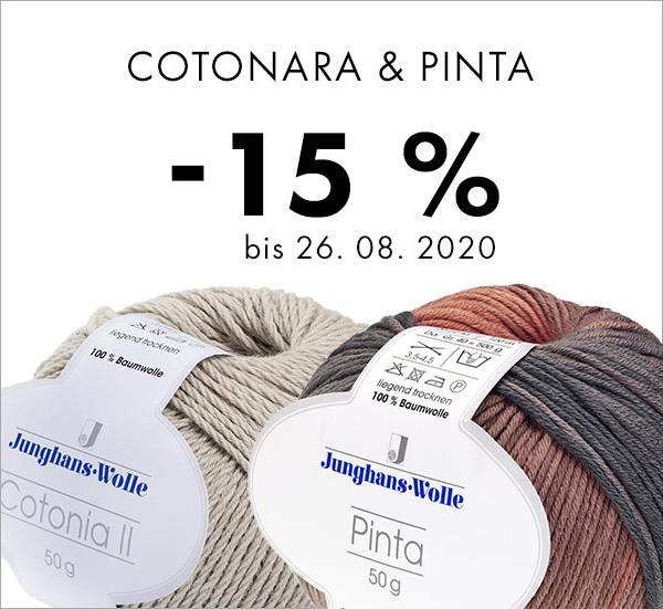 Jetzt reduziert: Pinta und Cotonia ll von Junghans-Wolle