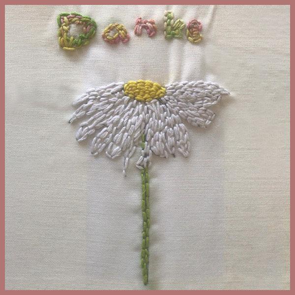 Blumenstickerei