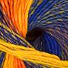 Blau/Lila/Orangegelb