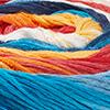 Blau/Weiß/Gelb/Orange/Lachs/Hellrot - breite Farbblöcke