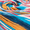 Blau/Weiß/Gelb/Orange/Lachs/Hellrot - dünne Streifen