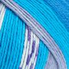 Blau/Petrol/Weiß