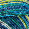 Taupe/Blau/Zitrusgelb