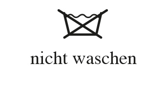 Wasch- und Pflegesymbole - nicht waschen